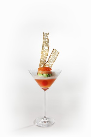 cocozelle: Tomato jelly with courgette and trout tartar LANG_EVOIMAGES