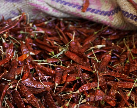 soft sell: Dried chilli peppers LANG_EVOIMAGES