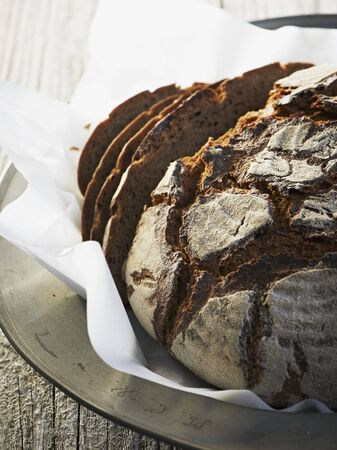 slashed: Dark rye bread