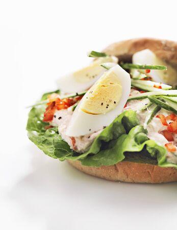 tunafish: An egg and tuna sandwich