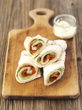 Courgette, ham and cheese wraps LANG_EVOIMAGES