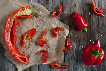 brownness: Pointed red peppers