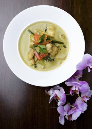 ka: Tom Ka Gai soup with seafood (Thailand)