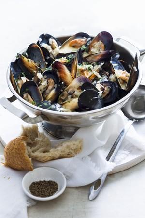 allium cepa: Moules a la mariniere (mussels in white wine, France)