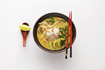 laksa: Laksa Lemak (noodles in a coconut milk source, South-East Asia) LANG_EVOIMAGES