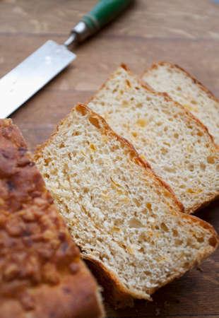 slashed: Tangy Cheddar bread
