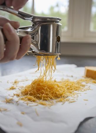 grating: Grating Cheddar cheese