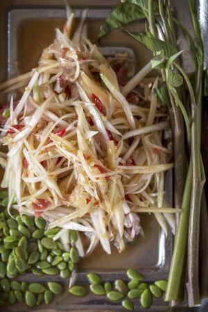 tam: Som Tam Thai (spicy papaya salad, Thailand)