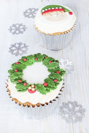 flavouring: Christmas cupcakes with brandy spice flavouring
