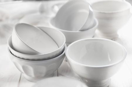 whiteness: White ceramic bowls