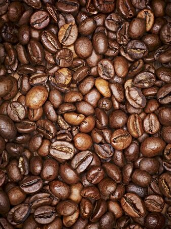 brownness: Coffee beans, full frame, close-up
