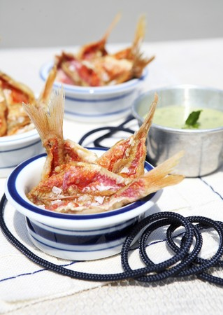 goatfish: Antipasto di triglie (red mullet with a herb dip, Italy)