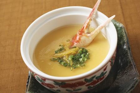 dashi: Chawanmushi - steamed egg custard with soy sauce, dashi, fish flakes and mirin (Japan)