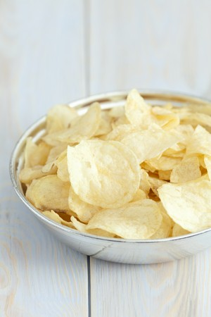 crisps: Potato crisps with salt