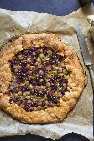 blackcurrant: Gooseberry and blackcurrant galette LANG_EVOIMAGES