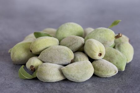 noone: A pile of whole fresh almonds