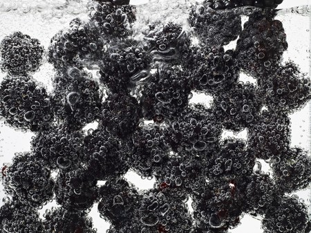 brambleberries: Blackberries under water with bubbles