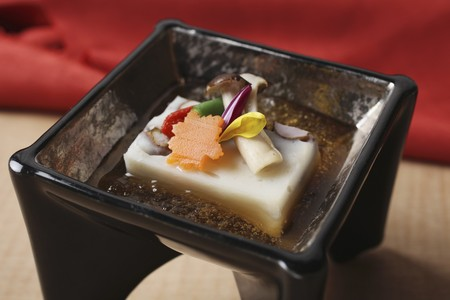 appetiser: Tofu kaiseki (Japanese appetiser)