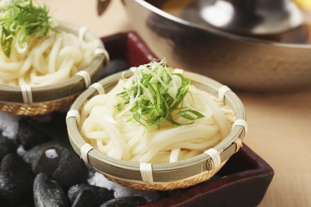 spring onions: Udon noodles with spring onions (Japan) LANG_EVOIMAGES