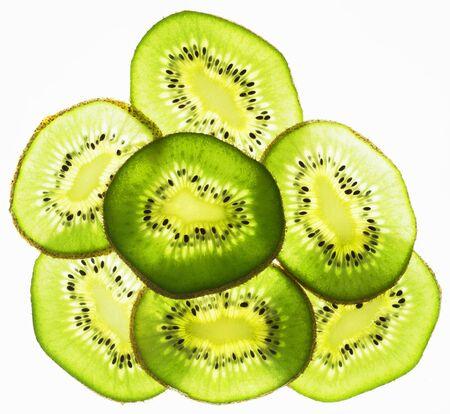 lit: Back lit slices of kiwi LANG_EVOIMAGES