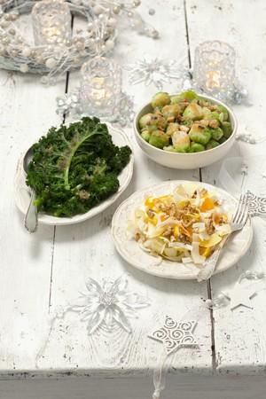 contorni: Tre verdure contorni di andare con arrosto cena di Natale