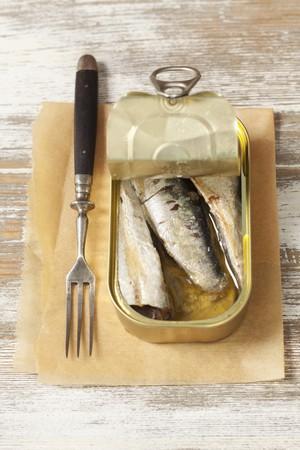 sardinas: Una lata de sardinas ahumadas LANG_EVOIMAGES