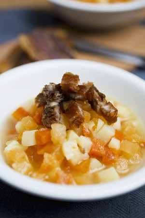 rutabaga: Turnip, pumpkin and pork dripping stew