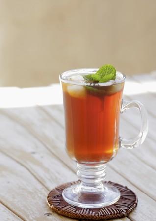icecubes: Iced tea with ice cubes