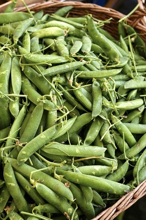 pods: A basket of pea pods