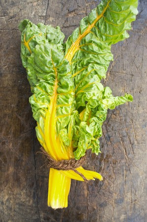 bunched: A bunch of yellow chard