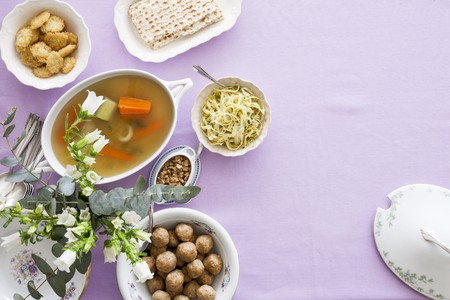jewish cuisine: Various dishes for the Jewish festival of Passover