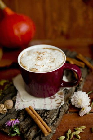 hot coffees: Pumpkin spice latte (coffee speciality, USA)