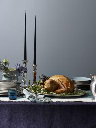 winter blues: Roast turkey on a festive table