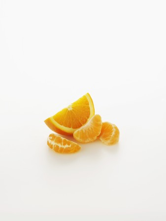 segments: An orange wedge and segments