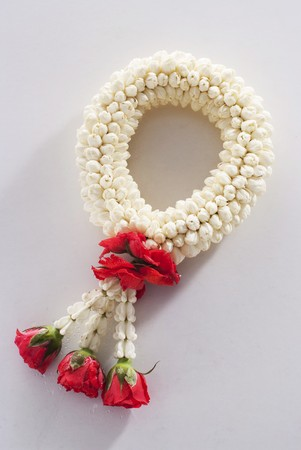 festoons: A Buddhist flower garland from Thailand