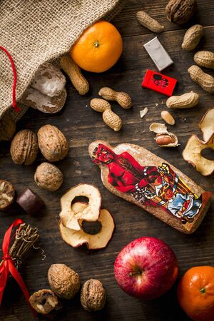 brownness: Fruit and nuts from a hemp sack