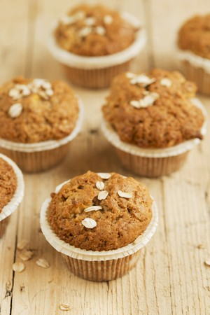 grain and cereal products: Wholemeal apple muffins