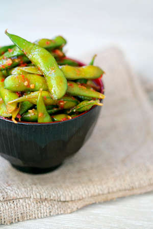soya beans: Soya beans in a spicy chilli sauce LANG_EVOIMAGES