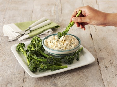 provenance: A cheese and chive dip with broccoli