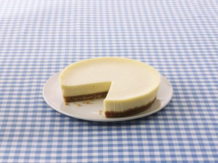 slashed: New York Cheesecake, sliced