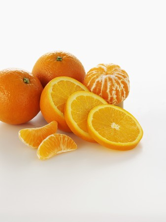 segments: Orange and mandarin slices and segments