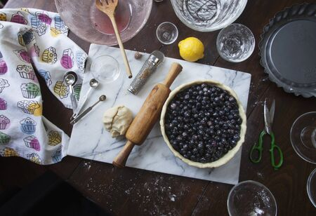 blueberry pie: Ingredients for blueberry pie
