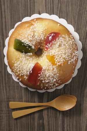 twelfth night: Brioche des Rois (King cake, France)