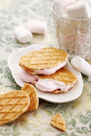 marshmellow: Marshmallow-filled waffles