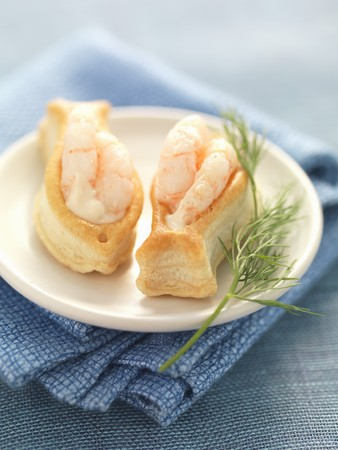 copy paste: Prawn cocktail in little flaky pastry fish
