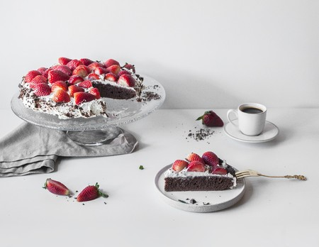 pollitos: Una torta de alforfón sin gluten con fresas