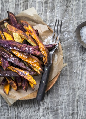 sweet potato fries, colourful fries, fries, french fries LANG_EVOIMAGES