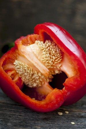 Red pepper on a metal tray LANG_EVOIMAGES