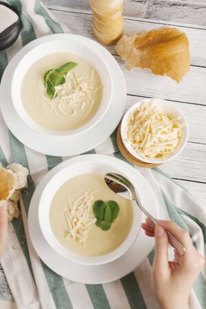 provenance: Cheese soup with watercress LANG_EVOIMAGES