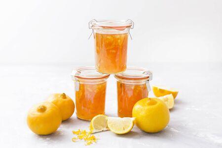 pickling: Homemade bergamot jam with zests LANG_EVOIMAGES